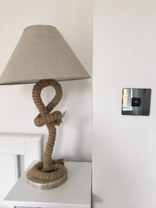 MiHome Light Switch next to lamp