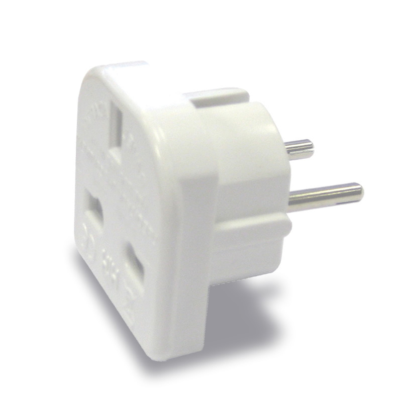 16 Amp UK to European Travel Adapter