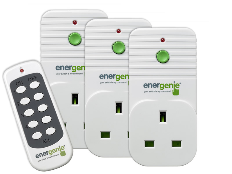 3 Pack of Remote Controlled Sockets