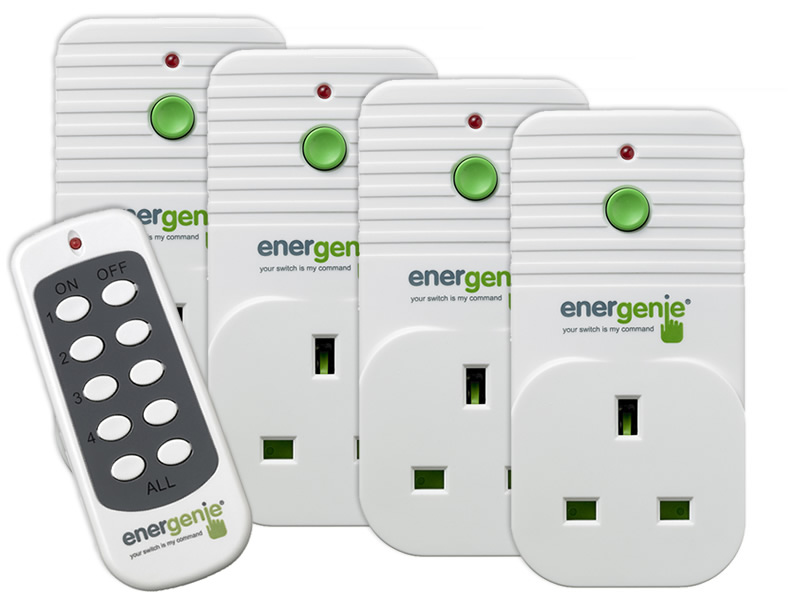 4 pack of Remote Controlled Sockets