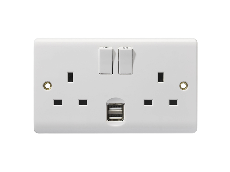 Double Wall Socket with USB