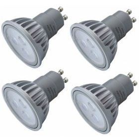 4 Pack of Dimmable GU10 LED spotlight, equivalent to a 50W bulb