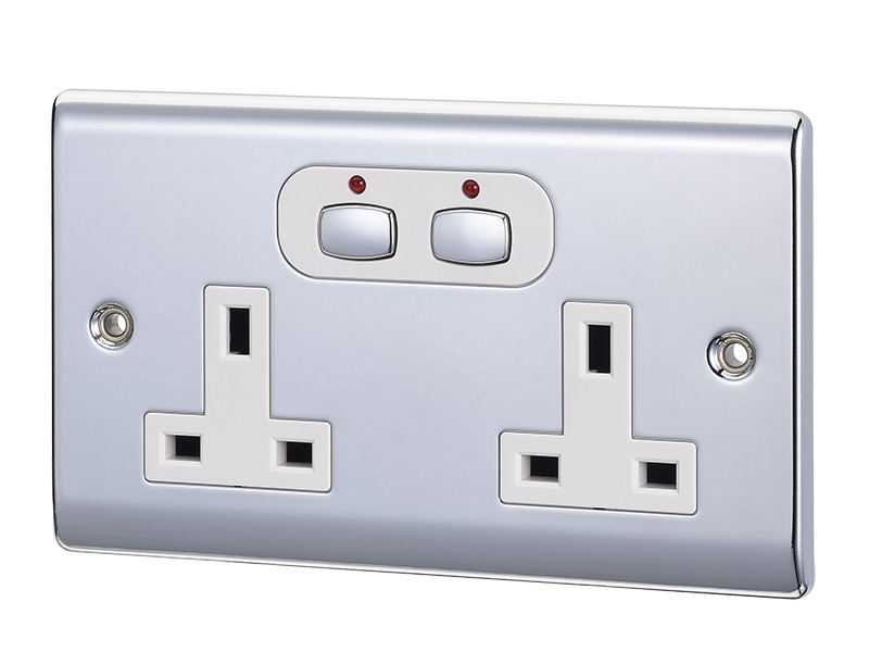 Smart 6mm Double Socket Chrome