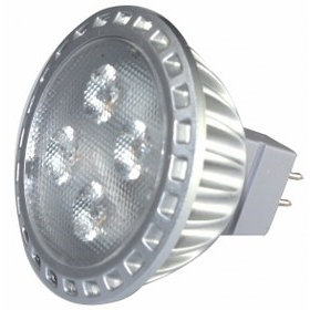 Single GU5.3 LED spotlight, equivalent to 50W bulb