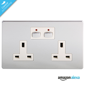 Mi|Home Smart Double Socket (Chrome)