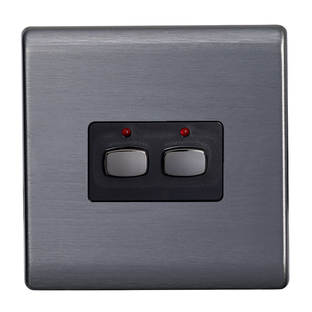 Smart 6mm master/slave two gang Light Switch Graphite