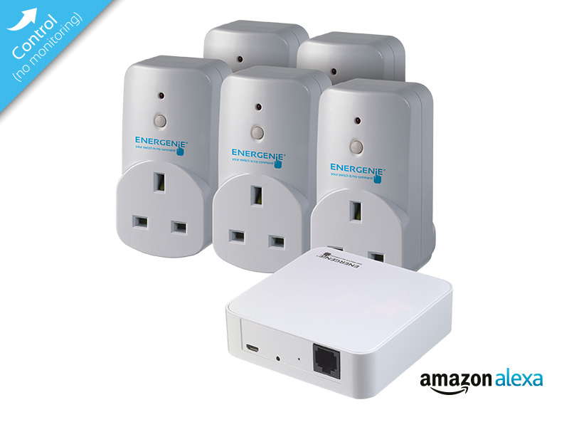MiHome Gateway with 5 Smart Plugs